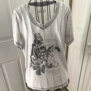 STAR WARS T-shirt. Women's V neck. Size L